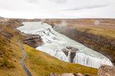 Gullfoss vattenfall på hvita floden - island — Stockfoto