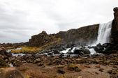 Oxarafoss cachoeira, Parque Nacional de thingvellir, Islândia — Fotografia Stock