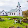 Cemetery and church in Iceland — Stockfoto #38642487