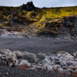 Icelandic beach with black lavrocks, Snaefellsnes peninsula, Iceland — Stock Photo #38643141