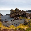 Icelandic beach with black lavrocks, Snaefellsnes peninsula, Iceland — Stock Photo #38643163