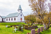 Cemetery and church in Iceland — Stock Photo