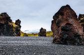 冰岛海滩与黑色熔岩岩石、 snaefellsnes 半岛、 冰岛 — 图库照片