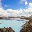 Blue Lagoon - famous Icelandic spand Geothermal Power plant (panoramic picture) — Stockfoto #38728709