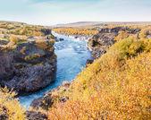 Hraunfossar şelale, İzlanda — Stok fotoğraf