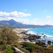 Falassarna, one of the most beautiful beaches of Crete , awarded as the best in Europe — Stock Photo #41058345