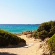 Falassarna, one of the most beautiful beaches of Crete , awarded as the best in Europe — Stock Photo