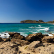 Falassarna, one of the most beautiful beaches of Crete , awarded as the best in Europe — Stock Photo #41058491