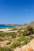 Amazing view over the bay of Falassarna, Crete island, Greece — Stockfoto