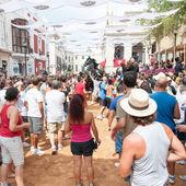 Festes de Gracia, City On Mahon, Menorca Island, Spain — Stock Photo