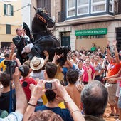 Festes de Gracia, City On Mahon, Menorca Island, Spain — Stock Photo