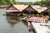 Kanchanaburi, Thailand - May 23, 2014:View over River Kwai, Kanchanaburi province, Thailand. — Stock Photo