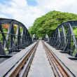 Bridge over the River Kwai in Kanchanaburi province, Thailand — Stock Photo #48482081