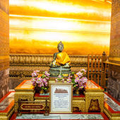 Statue of Black Buddha, Thailand — Stock Photo