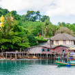 Koh Kood Island, Thailand - May 26, 2014: View of Baan Ao Salad port and fishing village on Koh Kood Island, Thailand — Stock Photo #49671165