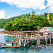 Koh Kood Island, Thailand - May 26, 2014: View of Baan Ao Salad port and fishing village on Koh Kood Island, Thailand — Stock Photo #49671219