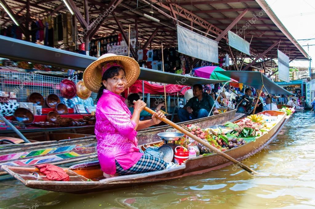 Ratchaburi Thailand  city pictures gallery : Ratchaburi, Thailand May 24, 2014: Thai locals sell food and ...