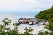 Koh Kood Island, Thailand - May 29, 2014: View of Baan AoYai Salad port and fishing village on Koh Kood Island, Thailand — Stock Photo