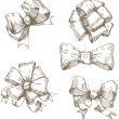 Festive bows — Stock Vector