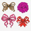 Set of festive bows — Stock Vector