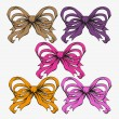 Set of festive bows — Image vectorielle