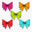 Set of festive bows — Stockvectorbeeld