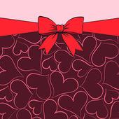 Grußkarte für valentin — Stockvektor
