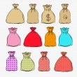 Set of bags — Stock Vector