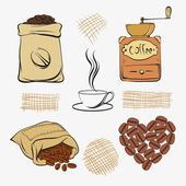 Set coffee — Stock Vector