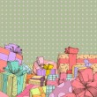 Presents background — Stock Vector