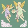 Vector de stock : Angels. Cupids
