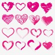 Stock Vector: Set of hearts for valentines