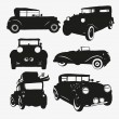Set retro cars - Stock Vector