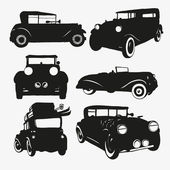 Set retro cars — Stock Vector
