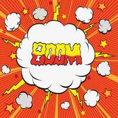 Cartoon explosion — Stock Vector