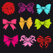 Set of bright bows — Stock Vector