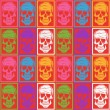Stock Vector: Skull pattern