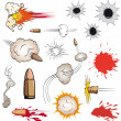 Stock Vector: Comic book bullets set