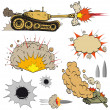 Set of tanks - Stock Vector