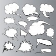 Stock Vector: Speech bubbles set. Comic book
