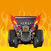 Racing car, vector illustration — Stock Vector