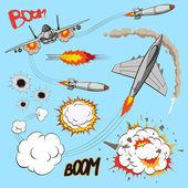 Plane set, vector illustration — Stock Vector
