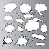 Speech bubbles set. Comic book — Stock Vector