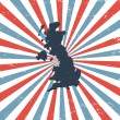 England on the map - Image vectorielle