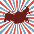 Russia on the map — Imagen vectorial