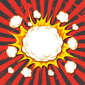 Boom. Comic book explosion — Stock Vector