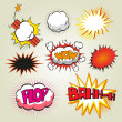 Boom. Comic book explosion set — Vector de stock #27363429