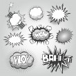 Boom. Comic book explosion elements set — Stock vektor