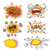 Boom. Comic book explosion set — Stock Vector