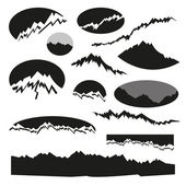 Mountains emblems set, vector illustration — Stock Vector